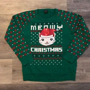 """Other - Girl' size 14/16 (XL) """"Meowy Christmas"""" sweater"""